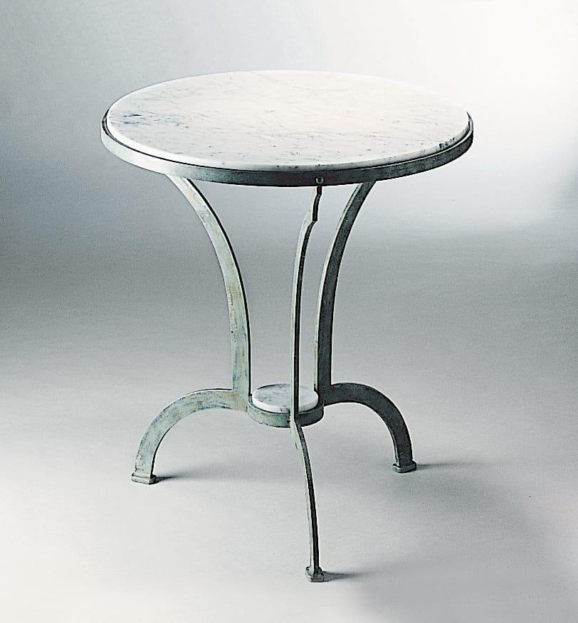 Gartentisch Aus Eisen Mit Marmorplatte Idfdesign
