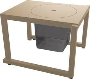 Bristol - TS, Hilfs kleinen Tisch für den Außenbereich, Metalltisch für den Garten geeignet