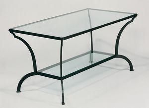 GF4013TA, Gartentisch aus Eisen und Glas