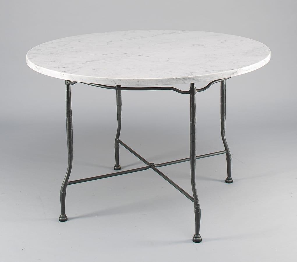Gartentisch Mit Runder Marmorplatte Idfdesign