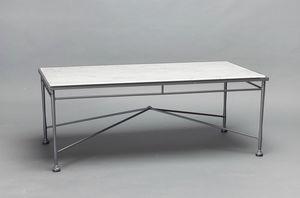 INTRECCIO GF4004TAB, Rechteckiger Tisch mit Carrara-Marmorplatte