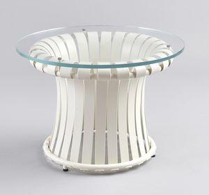 MOLLE GF4001CT-S, Eisentisch mit Glasplatte, für den Außenbereich