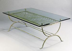 ROMBI GF4002CT, Rechteckiger Tisch aus Messing für den Außenbereich