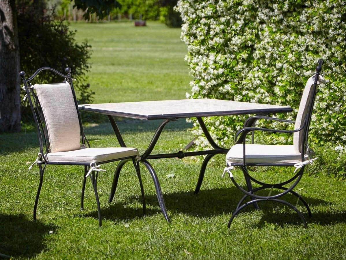 Gartentisch Aus Eisen Und Marmor Idfdesign