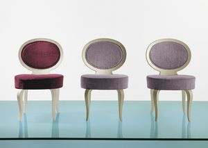 4103 Sweet, Gepolsterter Stuhl mit ovaler Rückenlehne