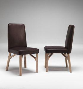 6105 Arpeggio/S, Esszimmerstuhl aus Holz, gepolstert