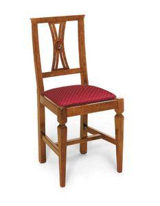 Art. 123, Klassischer Stuhl mit gepolsterter Sitzfläche