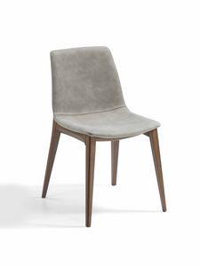 Bassano, Gepolsterter Stuhl mit Aschebasis