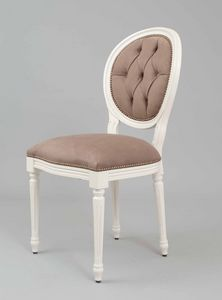 BS100S - Stuhl, Medaillonstuhl mit Rückenlehne