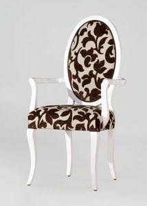 BS213A - Stuhl, Medaillonstuhl mit Rückenlehne