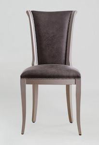 BS376S - Stuhl, Stuhl mit Kunstleder bezogen
