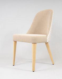 BS438S - Stuhl, Gepolsterter Stuhl im zeitgenössischen Stil