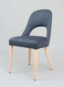 BS439S - Sessel, Gepolsterter Stuhl mit Kunstleder bezogen