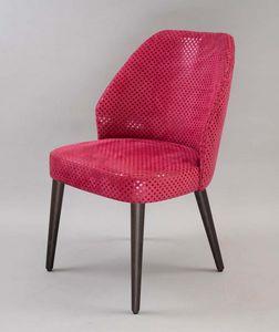 BS476A - Stuhl, Gepolsterter Stuhl mit gepolsterter Rückenlehne