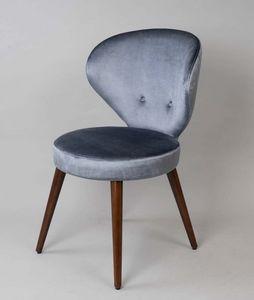 BS477A - Stuhl, Gepolsterter Stuhl mit gepolsterter Rückenlehne