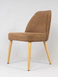 BS479S - Stuhl, Stuhl mit Öko-Nabuk bezogen