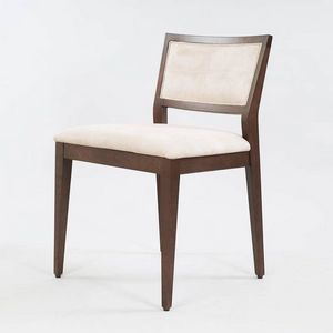 BS513S - Stuhl, Gepolsterter Holzstuhl