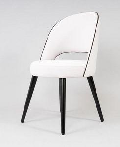 BS523A - Stuhl, Gepolsterter Stuhl mit runder Sitzfläche