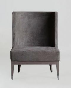 BS601A - Stuhl, Stuhl mit Nabuk-Kunstleder bezogen