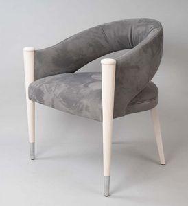 BS604A - Stuhl, Stuhl mit Nubuk bezogen