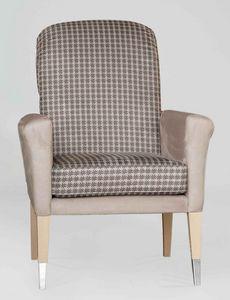 BS606A - Stuhl, Gepolsterter Stuhl mit Armlehnen