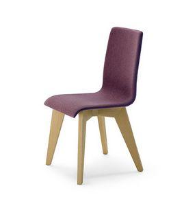 CG 858030, Gepolsterter Stuhl aus Holz