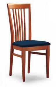 Cipria, Stuhl mit Rückenlehne für vertikale Lamellen