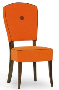 Corella, Gepolsterter Stuhl mit Holzrahmen