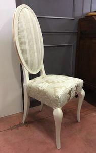 Elena 174, Klassischer lackierter Stuhl mit ovaler Rückenlehne