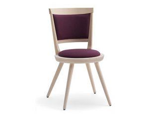 Isolda-S2, Gepolsterter Stuhl mit rundem Sitz