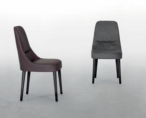 JULIETTE, Lederstuhl, mit weichem und bequemem Sitz