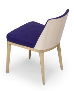 Kate wood, Stuhl mit Rückseite aus Holz