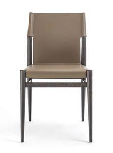 Ledermann Stuhl 10.0600, Stuhl aus Eschenholz und Leder
