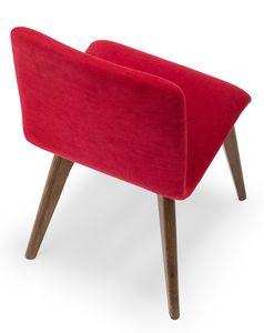 Link, Gepolsterter Stuhl mit Holzbeinen