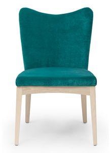Love, Gepolsterter Stuhl mit geformter Rückenlehne