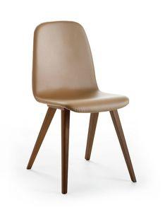 Lucia, Stuhl mit gesteppter Rückenlehnenabdeckung