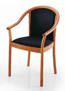 Manuela, Stuhl mit Armlehnen, gepolstert, für den Objektbereich