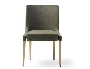 Monna-S, Gepolsterter Stuhl aus Holz für den Objektbereich