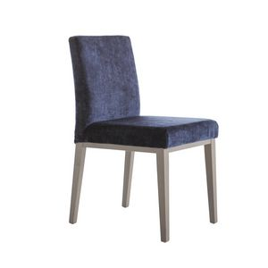 MP49G, Gepolsterter Stuhl mit Holzbeinen