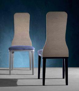 SE56 Optical Skin Stuhl, Stuhl mit Rückenlehne aus Holz, mit Effektplatte 3d