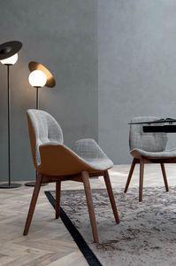 SORRENTO ÉSPRIT, Stuhl mit Holzstruktur ohne Falten