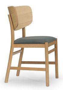 Viky, Stuhl mit gebogenem Holzrücken