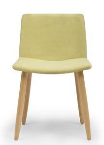 Web, Stuhl mit Holzbeinen und gepolsterter Schale
