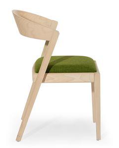 Zanna, Holzstuhl mit abgerundeten Rücken