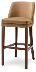 MILANO SG, Hocker aus Holz mit gepolstertem Sitz