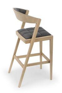 Zanna UPH stool, Eleganter Holzhocker
