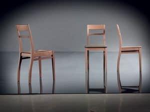 ART. 134 HARMONY, Einfach Buche Stuhl, Sitz gepolstert, für Wohnzimmer