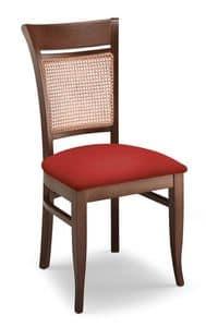 Gloria INC, Stuhl aus Buche, Sitz und Rohr zurück gepolstert