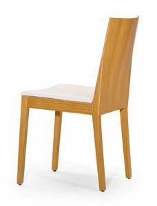 Luna UPH seat, Holzstuhl mit strengen Formen