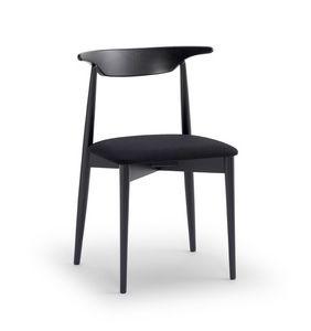 MUSICA, Vielseitiger Stuhl mit gepolstertem Sitz, ergonomische Rückenlehne